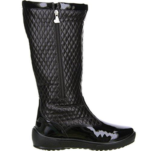 San Bernardo Damen Winterstiefel Snowboots schwarz Schwarz