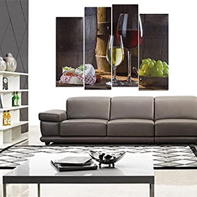 Canvas Paints LuckyFine Red Wine Desserts Unframed Modern Picture HD Canvas Print Wall Art Painting produced by Tiopeseer - quick delivery from UK.