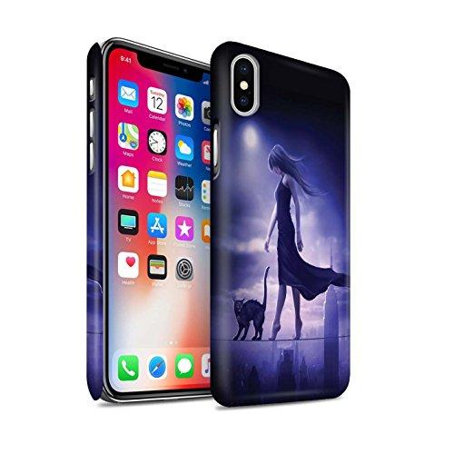 Offiziell Elena Dudina Hülle / Matte Snap-On Case für Apple iPhone X/10 / Schlafwandler Muster / Dunkel Magie Kollektion Schlafwandler
