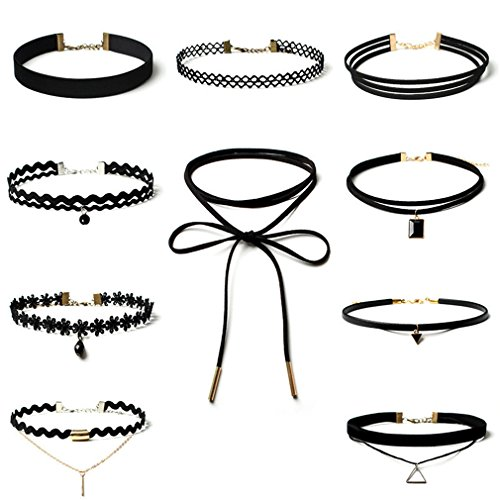 10-pcs-choker-necklace-for-women-girls-black-classic-velvet-stretch-gothic-tattoo-lace-by-irona