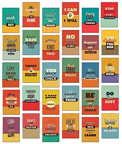 30 x Retro, Lebensweisheiten, inspirierende Zitate mit Bildern verschiedene Postkarten Set/Postcrossing