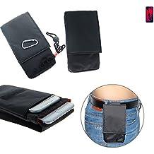 Per Huawei P20 Pro Dual-SIM sacchetto cintura marsupio borsa a tracolla taschino Borsa da viaggio Travel-Caso verticale Protezione cinghia copertura cassa clip caso per Huawei P20 Pro Dual-SIM nero - K-S-Trade®