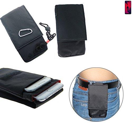 K-S-Trade Für Huawei P20 Pro Dual-SIM Gürteltasche Brusttasche Brustbeutel schwarz Travel Bag Travel-Case vertikal Schutz vor Diebstahl/Raub für Huawei P20 Pro Dual-SIM