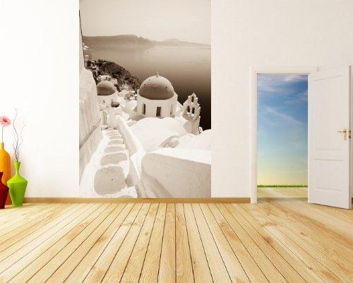 bilderdepot24-papier-peint-intiss-voir-santorin-grce-sephia-65x100-cm-pte-inclus-vente-directe-fabri