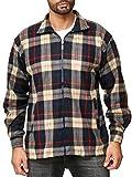 ArizonaShopping Herren Fleece Hemd Holzfäller Kariert, Farben:Braun, Größe Jacken:M