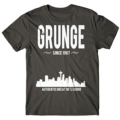 Herren-T-Shirt Grunge Since 1987 - 100% baumwolle LaMAGLIERIA Dunkelgrau