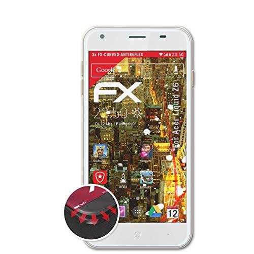 atFolix Schutzfolie passend für Acer Liquid Z6 Folie, entspiegelnde & Flexible FX Bildschirmschutzfolie (3X)