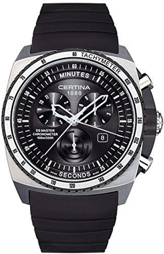 Certina DS Master Homme Bracelet Caoutchouc Noir Boitier Acier Inoxydable Quartz Montre C015.434.27.050.00