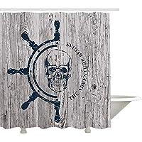 Polyester TATTOO Piratenmuster Duschvorhang Ring Haken Set Waschbarer