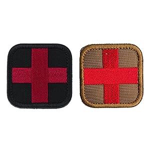 Homyl 2pcs Crochet Boucle Medic Croix Patch pour T-shirt Jeans Sacs à Linge 50 X 50mm
