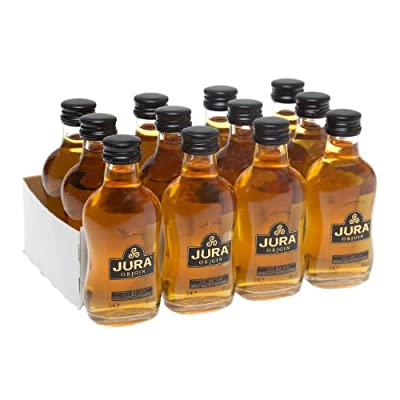 Isle of Jura Origin 10 year old Single Malt Scotch Whisky 5cl Miniature - 12 Pack