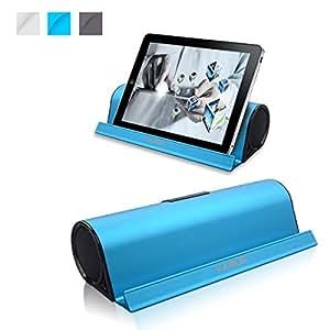Kamor® Tragbare Bluetooth Lautsprecher Reisegröße mit Cradle, Powered Subwoofer, Unglaubliche 10 Stunden Wiedergabedauer, Aufladbarer Bluetooth Lautsprecher für iPhone 6 / 6 Plus / 5S / 5 / 4S, iPad Mini 3 / mini 2 / mini, iPad Air 2 / Air, iPad 2 3 4, iPod, itouch, Samsung Galaxy S5 / S4 / S3 / Note 4 / Note 3, LG Nexus 5 / G3 / G2 / Exalt, Sony Xperia Z2, HTC One M8, Nokia Lumia 520, Smartphones, Tablets PC, Laptops, Ultrabook and Mp3 Player