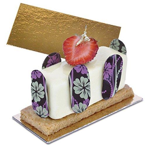 gateaux Carte/Mince gâteau Cartes - Doré 10 x 6 cm X 1,2 mm d'épaisseur (Lot de 40 Cartes Fines)