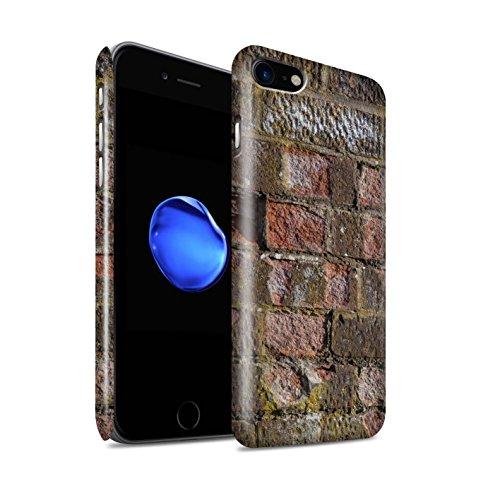 STUFF4 Glanz Snap-On Hülle / Case für Apple iPhone 8 / Alt/Gelb Muster / Mauerwerk Kollektion Erodiert