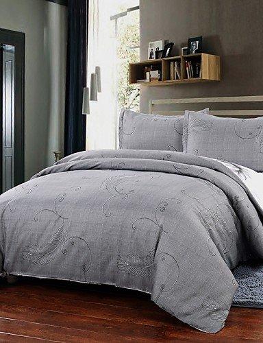 GXS/ einfache Opulenz Bettbezug gesetzt Polyester Luxus hellgrau gedruckt sind Bettbezug Kissenbezüge Königin König , king