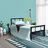 Aingoo lit Simple en métal avec tête et Pied de lit pour Les Enfants et Les...