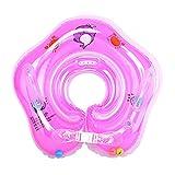 Eizur Baby Nuoto Anello Salvagente Regolabile per Bambini Supporto di Collo Bambini nuotano anello Baby galleggiante collare da bagno Baby Float Piscina Neonati, Rosa