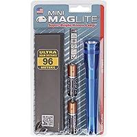 Mag-Lite Mini Maglite AA Torch 14.5cm M2A11H Blue Incl. 2Mignon Batteries and Nylon Pouch