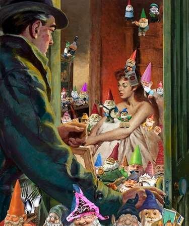 Fine Art Print–Nain de jardin mois par Image Soucieux, 12 x 14