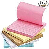 shager Sticky Notes, 5 Candy Farben selbstklebend Notes 75 mmx75 mm, 80sheets/Pad, einfach Post (5 Pads pro Pack)