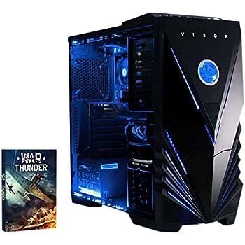 VIBOX Precision 6 Gaming PC Ordenador de sobremesa con War Thunder Cupón de Juego, Windows 10 OS (4,0GHz AMD FX Quad-Core Procesador, Nvidia GeForce ...