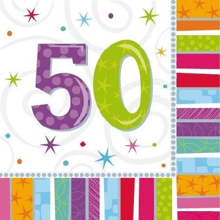 ervietten 50 Jahre, 16 Stück (50 Geburtstag-servietten)