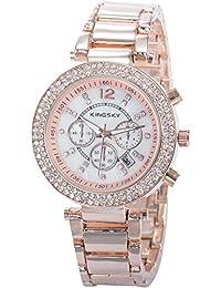 EASTPOLE WAA859 - Reloj Mujer de Cuarzo, Correa de Aleaci¨®n Oro Rosa