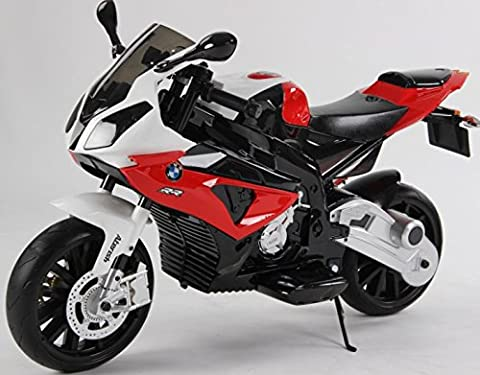 New 2017 Model Official Licensed BMW S1000R Rechargeable Electric Ride on Motorbike Kids Sports Pocket Motor (RED)