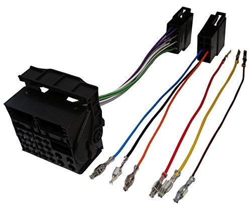 Aerzetix - Universal ISO Quadlock Konverter - Adapter - Kabel Radioadapter Radio Kabel Stecker ISO-Kabel Verbindungskabel