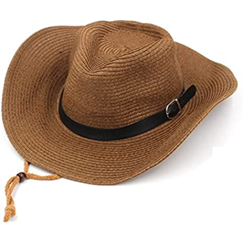 Cappello/Uomini e donne cappelli estivi/Cappelli da sole SPF/Grande cappello di paglia/ cappello da cowboy all'aperto/ spiaggia cappello da uomo
