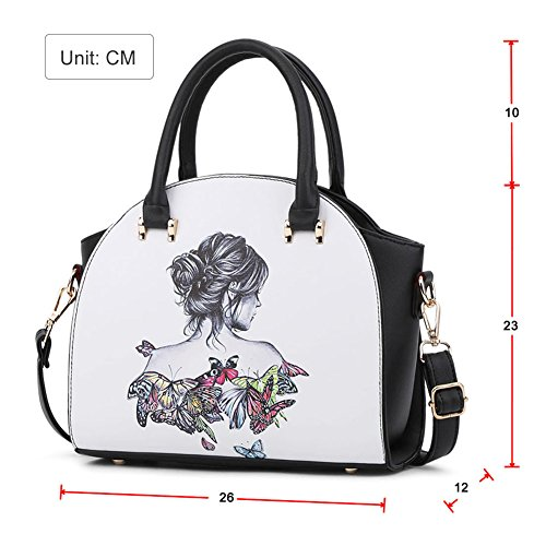 Donna Sacchetto Di Grafica stampa Spalla Casuale Della Borsa Messenger Bag Umbrella 2Beauty