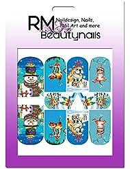 RM Beautynails Nagelsticker Nailwrap Fullcover Sticker One Stroke Sticker Nailart Nageldesign Weihnachten Schnee X-Mas