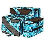 Eono Essentials 6 Set Cubos de embalaje, 3 tamaños diferentes Equipaje de viaje Organizadores de embalaje Geometría