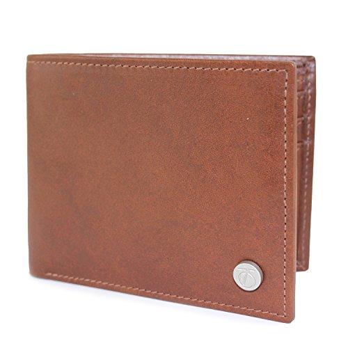 The British Belt Company Herren Hosenträger Peter Werth Hayden Bi Fold Wallet, Braun (Tan 78), Einheitsgröße (Leder Hosenträger Tan)