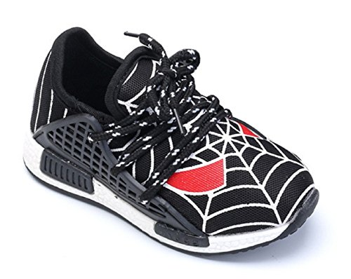 (taglia 27 adatta ad un piede di 16cm di lunghezza) scarpa da ginnastica per bambini con stringhe colore nero hkb-144