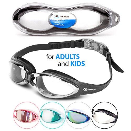 Schwimmbrille – Mit i-Swim Pro Orginals komfortabel schwimmen mit Anti-Beschlag Clear Vision und einem wasserdichtem Fit – Gespiegelt mit UV Schutz – Designed für Erwachsene und Kinder ab 10 Jahren