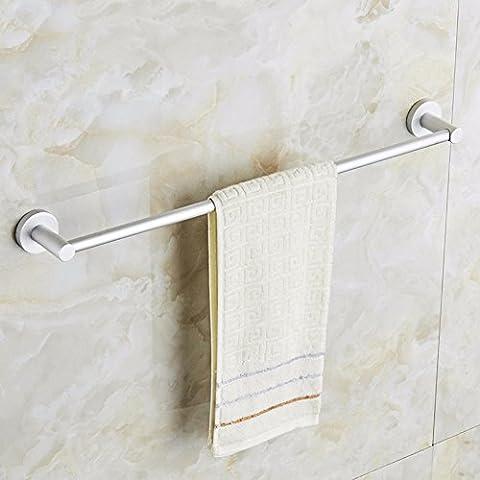 GGHYYO Punch-Free Towel Rail Bath Racks Are Wall Mounted 60Cm Space Aluminum