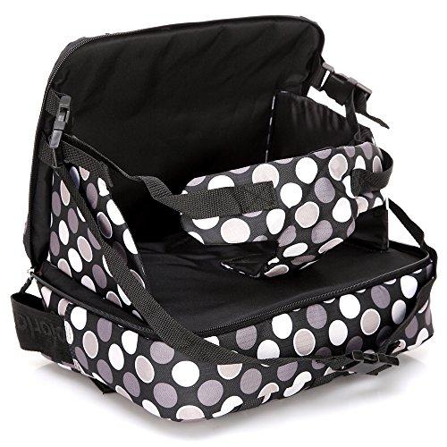mengma 5Farben Multifunktions Tragbare Mummy Wickeltasche Kind sicher Füttern Sitz Tasche Baby Klappsessel Windel schwarz