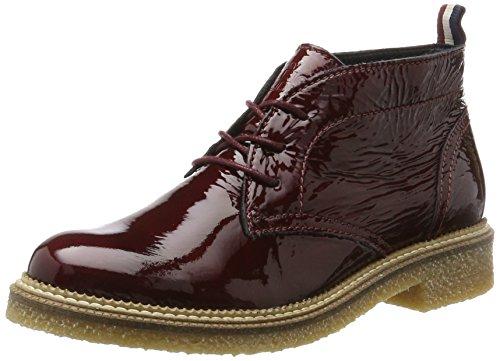 Hilfiger Denim Damen H1385AZEL 1P Desert Boots, Rot (Burgundy), 39 EU (Schuhe Denim Womens)