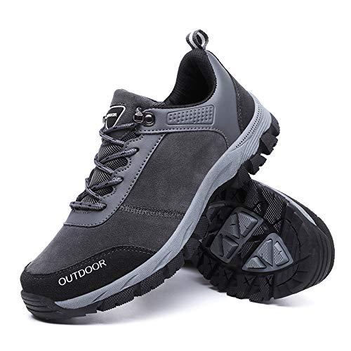 Holeider Schuhe Wanderschuhe Herren Sneaker Trekkingschuhe Bergschuhe Hikingschuhe Sicherheitsschuhe Arbeitsschuhe Atmungsaktiv Rutschfest Sportschuhe für Männer Outdoor