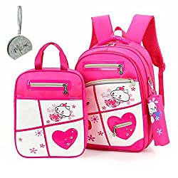 Micom Students School Backpack and Lunch Bag Pencil Pouch Set for Girls
