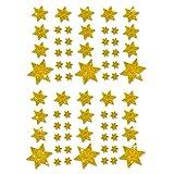 Oblique Unique® Weihnachts Sterne Sticker Aufkleber - Deko Weinachten - Farbe wählbar (Gold)