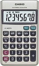 Casio LC-403TV Portable Calculator (Silver)