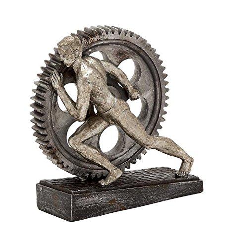 get-it-in-gear-metallic-finish-abstrakte-statue-mann-schieben-schwungrad