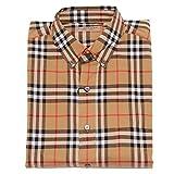 BURBERRY 5181Z Camicia Uomo Beige Check London England Long Sleeve Shirt Man [XL]