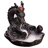 Retro le Reflux Supports à encens en céramique, Frohlila vintage faite à la main en porcelaine Encens Brûleur à encens Dragon bouddhiste avec décoration pour Home Office Yoga méditation prière