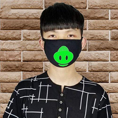 Zombie Kostüm Anti - ZXIU Masken für Kostüme Cartoon Gesicht Mund Masken Unisex Party Leucht Masken Dekor Radfahren Anti-Staub Staubdicht Mund Gesichtsmaske