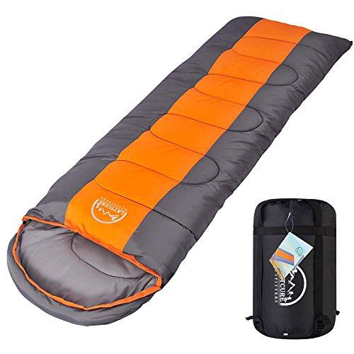 LATTCURE Outdoor Camping Deckenschlafsack Winter, Weich, Dick und Warm (Orange)
