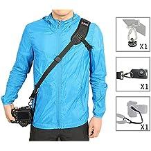 WITHLIN Paquete de fotografía profesional - deporte correa para el hombro con placa de montaje de correa de seguridad para cámaras SLR réflex DIGITAL (Canon Nikon Sony Olympus Pentax, etc)