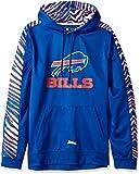 Zubaz NFL Buffalo Bills Mens Pullover Hood, Blue Small